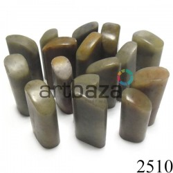 Мыльный камень для резьбы и гравировки печати, 4 - 5 см. шлифованный | Камень - заготовка для восточной печати