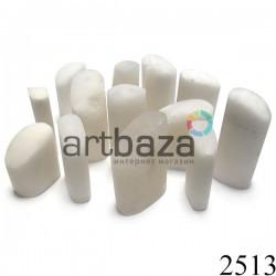 Белый мыльный камень для резьбы и гравировки печати, 3 - 4 см. шлифованный | Камень - заготовка для восточной печати