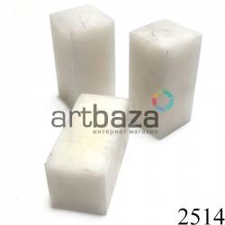 Мыльный камень для резьбы и гравировки печати, 5 x 2.5 x 2.5 см. шлифованный | Камень - заготовка для восточной печати