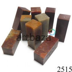 Красный мыльный камень для резьбы и гравировки печати, 5 x 2 x 2 см. шлифованный | Камень - заготовка для восточной печати