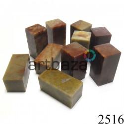 Мыльный камень для резьбы и гравировки печати, 5.2 x 2.5 x 2.5 см. шлифованный   Камень - заготовка для восточной печати