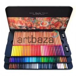 Набор профессиональных цветных карандашей, 100 шт., в металлическом пенале, Marco Renoir