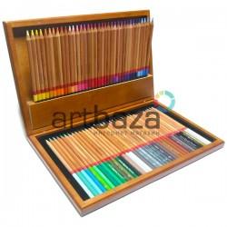 Подарочный набор профессиональных цветных карандашей, 72 шт., в деревянном пенале, Marco Renoir | FM3100-72WB | 6951572902794