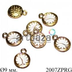 """Металлическая подвеска """"Золотые часы"""" для скрапбукинга, кулонов и бижутерии, Ø9 мм. купить в интернет магазине"""