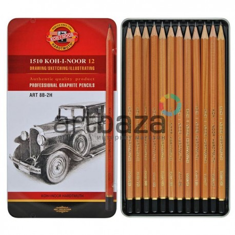 Набор карандашей чернографитных, ART HARDTMUTH, 1510 8В-2H, Koh-I-Noor в металлической упаковке купить в Киеве