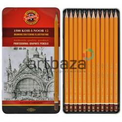 Набор карандашей чернографитных, ART HARDTMUTH, 1500 8В-2H, Koh-I-Noor