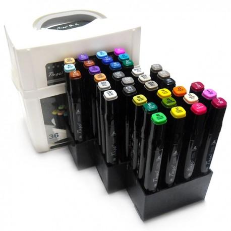 Набор художественных маркеров Tinge Twin для рисования и скетчинга, 36 цветов | Художественные маркеры для рисования в Киеве