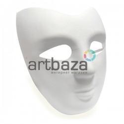 """Венецианская карнавальная маска """"Казанова"""", с резинкой, 19 см. х 22 см."""