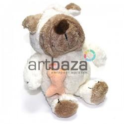 """Мягкая игрушка """"Белая собака с косточкой"""", NICI"""