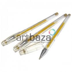 Ручка гелевая для рисования, золотая, 0.7 мм., EASY