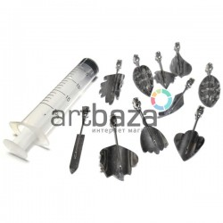 Набор инструментов для 3D желе, №1, 10 насадок + шприц | Наборы для создания 3D желе купить в Киеве