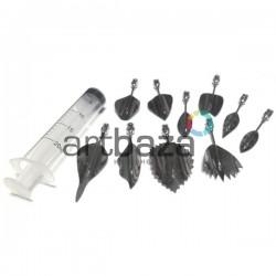 Набор инструментов для 3D желе, №2, 10 насадок + шприц