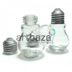Стеклянная бутылка для жидкости и специй с алюминиевой крышкой (диаметр горлышка 1.5 см., высота 6.5 см.), REGINA