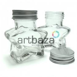 Стеклянная бутылка для жидкости и специй с алюминиевой крышкой (диаметр горлышка 3.4 см., высота 7.3 см.), REGINA