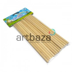 Набор декоративных палочек для рукоделия (палочки для мороженого), Ø5 мм. x 15 см., 18 штук, Craft Stick