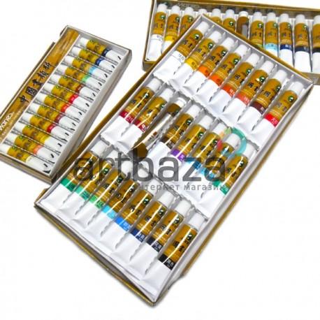 Тушь для китайской живописи, цветная в тубах, 24 цв. х 12 мл., Maries   Тушь для китайской живописи купить в Киеве