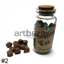 Сургуч декоративный бронза для печатей в таблетках, 60 - 70 штук