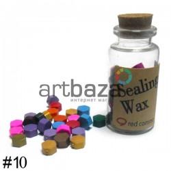 Сургуч декоративный микс для печатей в таблетках, 60 - 70 штук