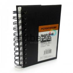 Блокнот для зарисовок (набросков) на спирали, Sketchbook A6, 80 листов, 105 х 148 мм., POTENTATE