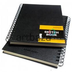 Блокнот для зарисовок (набросков) на спирали, Sketchbook A4, 60 листов, 190 х 260 мм., POTENTATE
