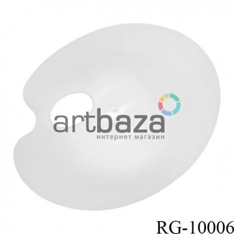 Палитра пластиковая плоская, овальная, 21.5 х 17.5 см., REGINA без ячеек (углублений) купить в Киеве в художественном магазине