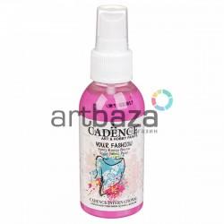 Краска - спрей для ткани, Pink / Розовый, 100 мл., Cadence Your Fashion Spray Fabric Paint купить в Киеве и Украине
