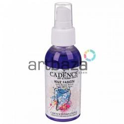 Краска - спрей для ткани, Navy Blue / Синий, 100 мл., Cadence Your Fashion Spray Fabric Paint | Краска на водной основе в спрее