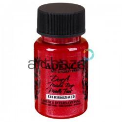 "Краска акриловая ""металлик"" Dora Metallic Paint, Red / Красный, 50 мл., Cadence"
