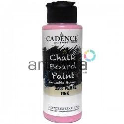 Краска акриловая для меловых досок Chalkboard Paint, Pink / Розовый, 120 мл., Cadence