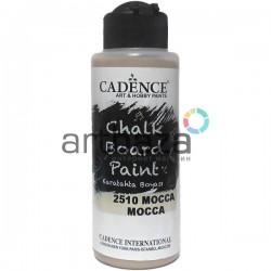 Краска акриловая для для имитации поверхности меловой доски Chalkboard Paint, Mocca / Мокка, 120 мл., Cadence
