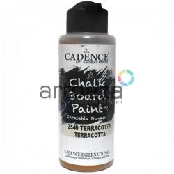 Краска акриловая для меловых досок Chalkboard Paint, Terracotta / Терракотовый, 120 мл., Cadence