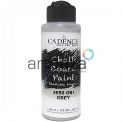 Краска акриловая (грифельная) для создания и имитации меловых досок Chalkboard Paint, Grey / Серый, 120 мл., Cadence