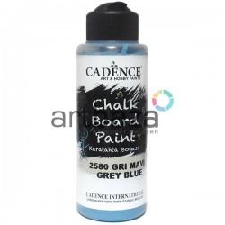 Краска акриловая для меловых досок Chalkboard Paint, Grey Blue / Серо - голубой, 120 мл., Cadence