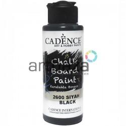 Краска акриловая для меловых досок Chalkboard Paint, Black / Черный, 120 мл., Cadence