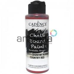 Краска акриловая для меловых досок Chalkboard Paint, Country Red / Бордо, 120 мл., Cadence