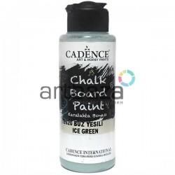 Краска акриловая (грифельная) для создания и имитации меловых досок Chalkboard Paint, Ice Green / Мятный, 120 мл., Cadence