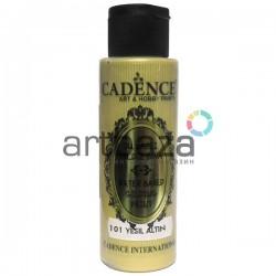 Краска акриловая с эффектом золочения Water Based Gilding Paint, Green Gold / Зеленое Золото, 70 мл., Cadence