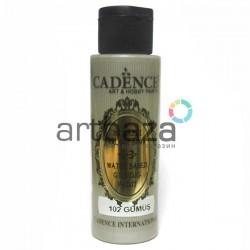 Краска акриловая с эффектом золочения Water Based Gilding Paint, Silver / Серебро, 70 мл., Cadence