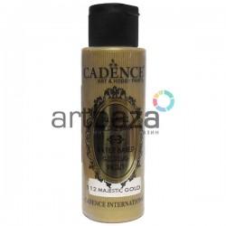 Краска акриловая с эффектом золочения Water Based Gilding Paint, Majestic Gold / Величественное Золото, 70 мл., Cadence