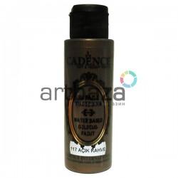 Краска акриловая с эффектом золочения Water Based Gilding Paint, Light Brown / Светло - коричневый, 70 мл., Cadence