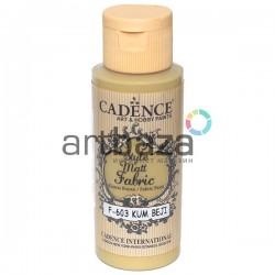 Краска по ткани матовая Style Matt Fabric, Sand Beige / Песчаный, 59 мл., Cadence