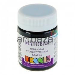 Краска акриловая матовая, Black / Черный, 50 мл., Decola