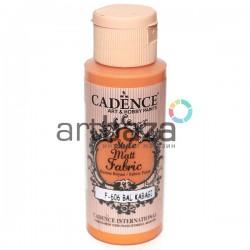 Краска по ткани матовая Style Matt Fabric, Pumpkin / Тыквенный, 59 мл., Cadence