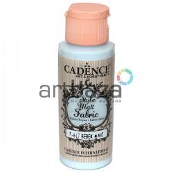 Краска по ткани матовая Style Matt Fabric, Baby Blue / Пастельно - голубой, 59 мл., Cadence