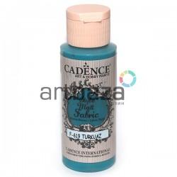 Краска по ткани матовая Style Matt Fabric, Turquoise / Турецкий Синий, 59 мл., Cadence
