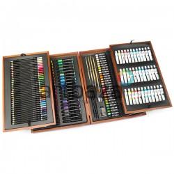 Художественный подарочный набор для рисования, 174 предмета, Künstler-Malkofer