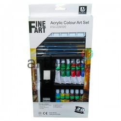 Набор художественных акриловых красок, 12 цветов по 12 мл., Art Nation
