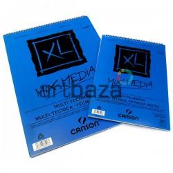 Альбом бумаги для смешанных техник XL MIX-MEDIA, 297 x 420 мм., 300 гр./м²., 20 листов, Canson