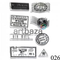 """Штампы для скрапбукинга (силиконовые штампы), набор """"Почтовые штампы"""", 9.5 x 14.5 см."""