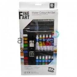 Набор художественных акварельных красок, 12 цветов по 12 мл., Art Nation ⚑ Акварельные краски купить в художественном магазине